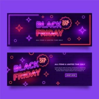Banner di venerdì nero al neon