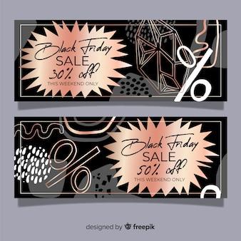 Banner di venerdì nero disegnato a mano