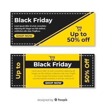 Banner di venerdì nero in design piatto