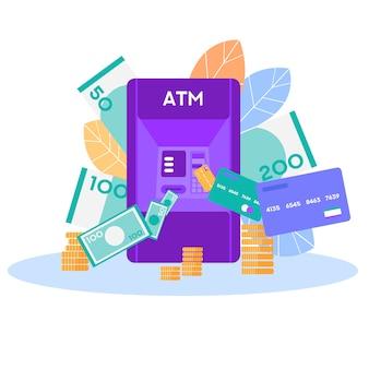 Banner di vettore di archiviazione denaro moderno e tradizionale