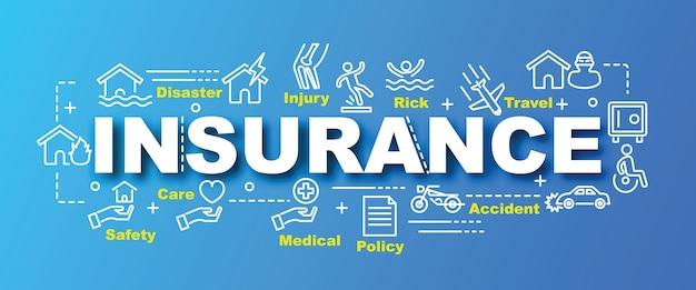 Banner di vettore di assicurazione di tendenza