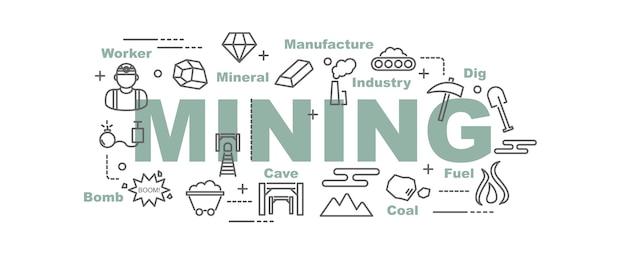 Banner di vettore di data mining