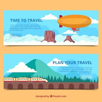 Banner di viaggio per le vacanze