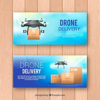Banner drone piatto
