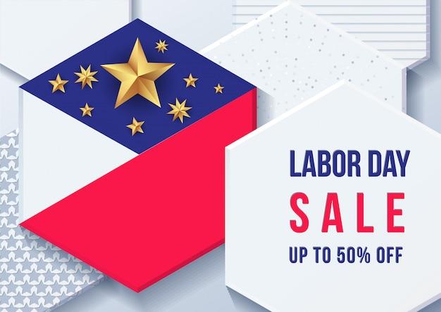 Banner festa del lavoro americano