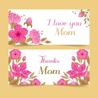 Banner festa della mamma design piatto