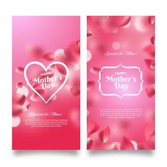 Banner festa della mamma offuscata