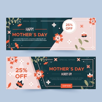 Banner festa della mamma piatto