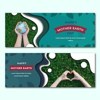 Banner festa della mamma terra