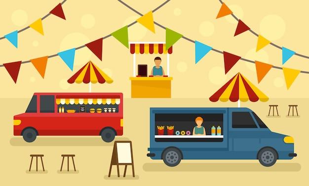 Banner festival di cibo