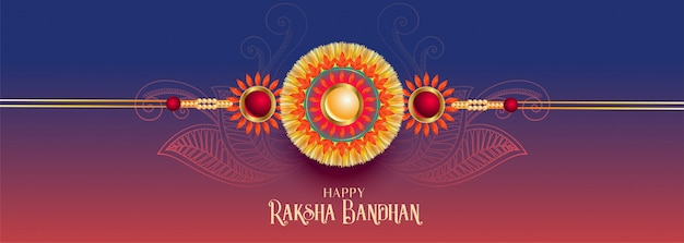 Banner festival raksha bandhan indiano