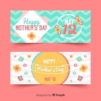 Banner floreale della festa della mamma