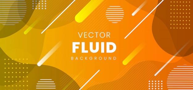 Banner fluido astratto moderno