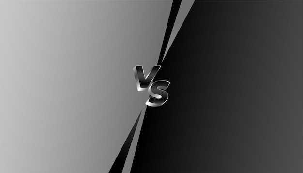 Banner grigio e nero contro vs sfida
