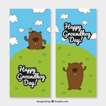 Banner groundhog divertenti