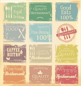 Banner grunge ristorante