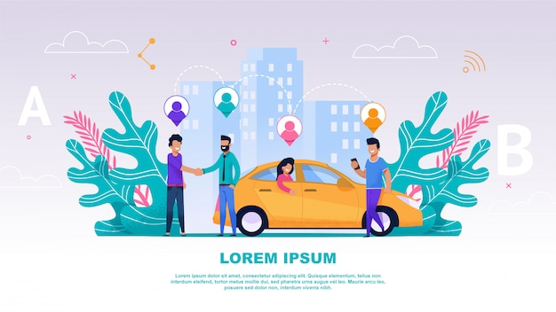 Banner illustrazione gruppo persone travel companion
