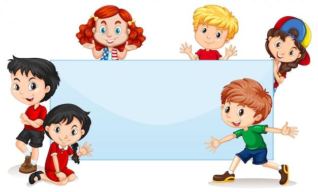 Banner in bianco per bambini internazionali