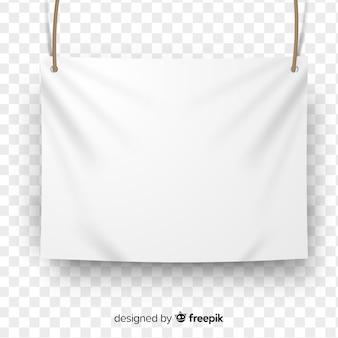 Banner in tessuto bianco