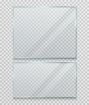 Banner in vetro trasparente, cornice.