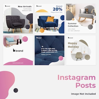 Banner instagram di media sociali gradiente