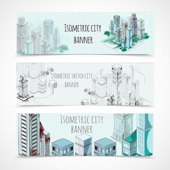 Banner isometrici per edifici