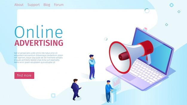 Banner la pubblicità online è popolare ed efficace.
