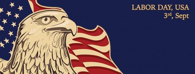 Banner labor day usa