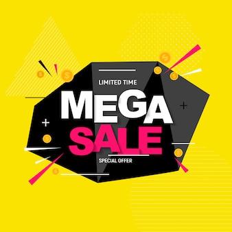 Banner mega vendita astratta