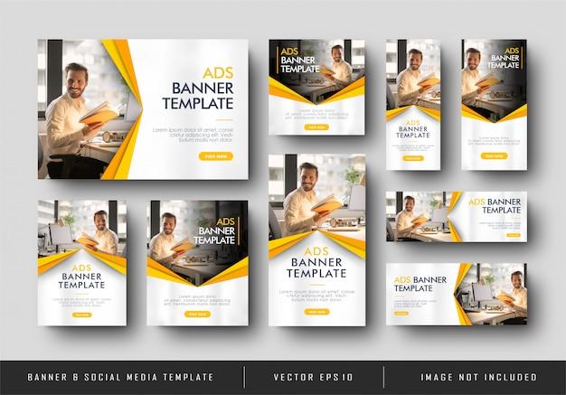 Banner minimalista giallo aziendale