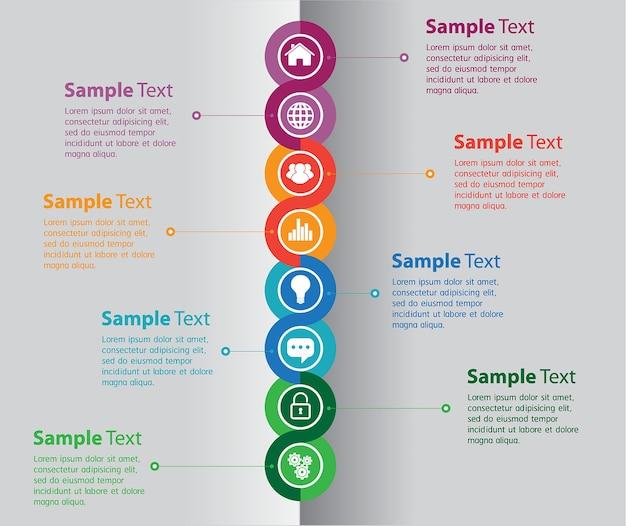 Banner modello di casella di testo infografica