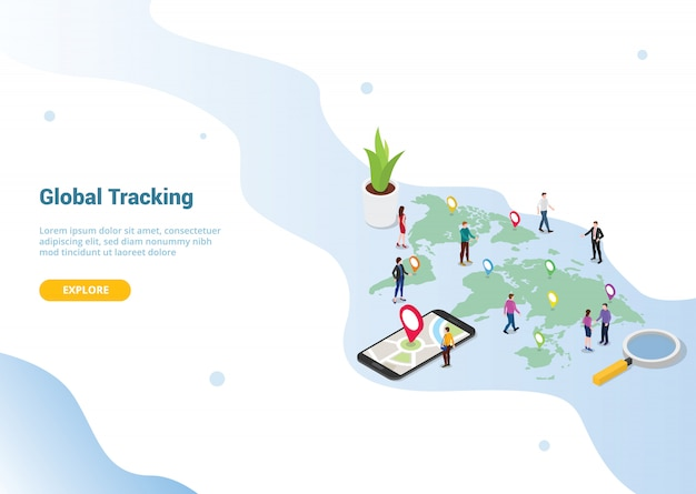 Banner modello di sito web o home page di destinazione