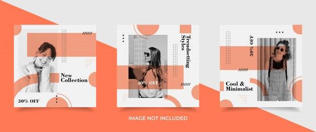 Banner modello minimalista social media post