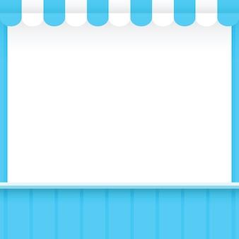 Banner modello negozio stile blu per la pubblicità delle vendite