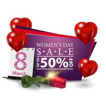 Banner moderno di sconto giornata della donna