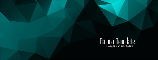 Banner moderno elegante poligono geometrico design
