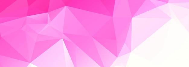 Banner moderno poligono rosa