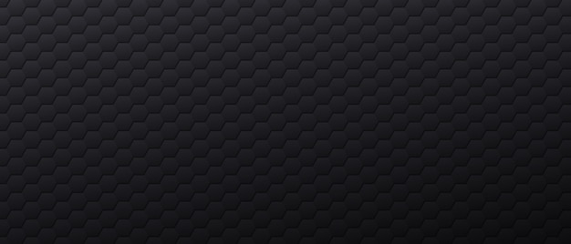 Banner nero con forme esagonali