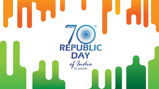 Banner o flyer per republic day of india