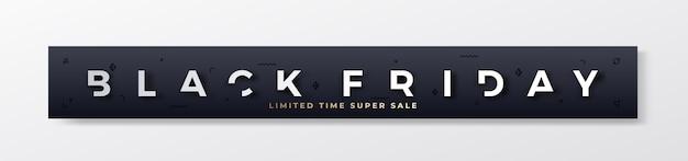 Banner o intestazione premium alla moda del black friday.