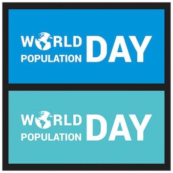 Banner o poster del giorno della popolazione mondiale