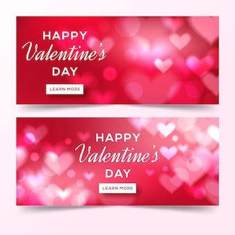 Banner offuscata di san valentino