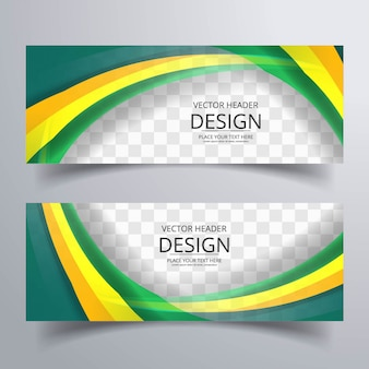 Banner ondulate colorati