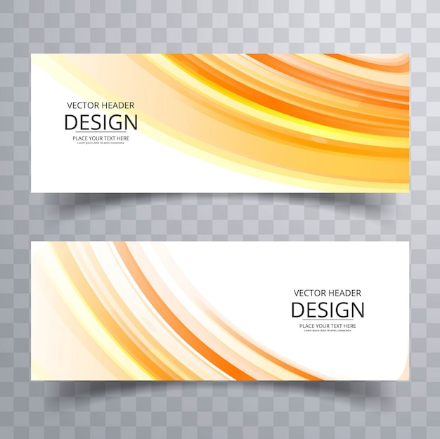 Banner ondulate luminoso