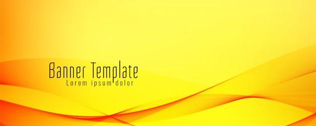 Banner ondulato giallo
