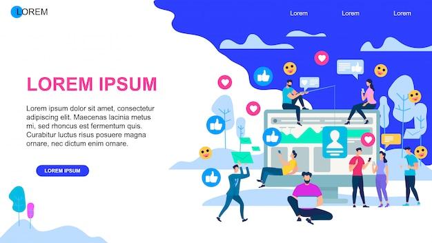 Banner orizzontale di media sociali con spazio di copia.