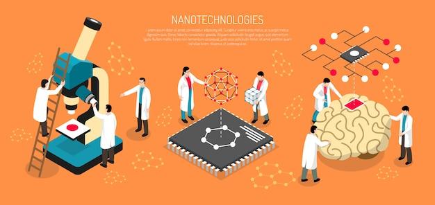 Banner orizzontale di nano technologies