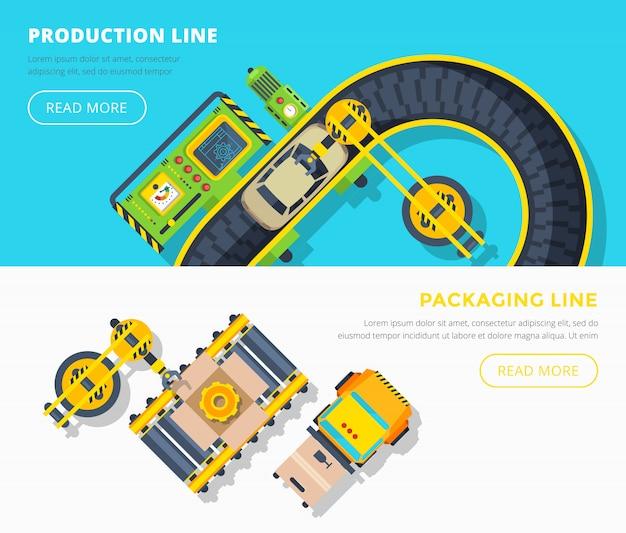 Banner orizzontale linea di produzione
