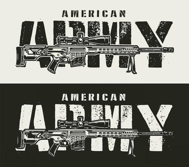 Banner orizzontale militare monocromatico vintage