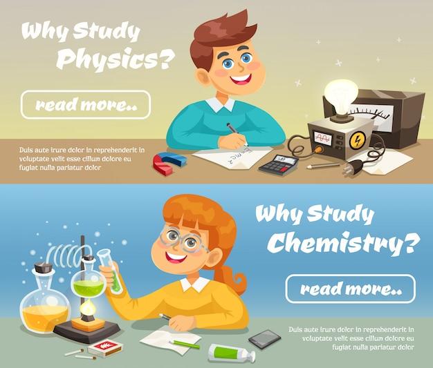 Banner orizzontale scienza